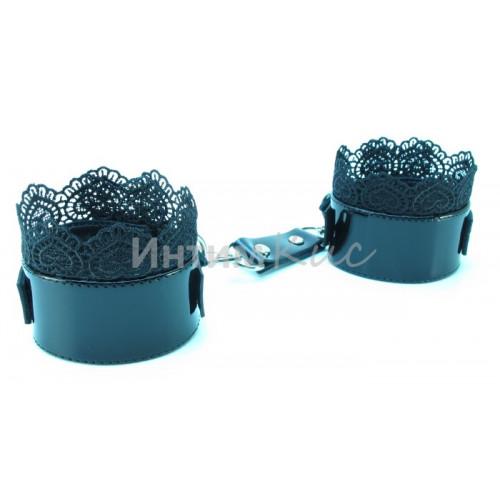 Изысканные наручники с кружевом Black BDSM Light  810005ars
