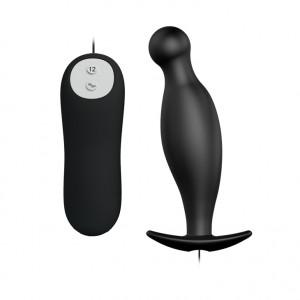 Анальный вибростимулятор Black  BI-040036