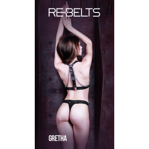 Портупея с цепями Gretha Black 7735rebelts
