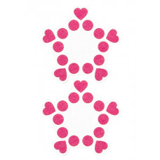 """Пестисы открытые """"Круги и сердца"""" розовые SH-OUNS015PNK"""